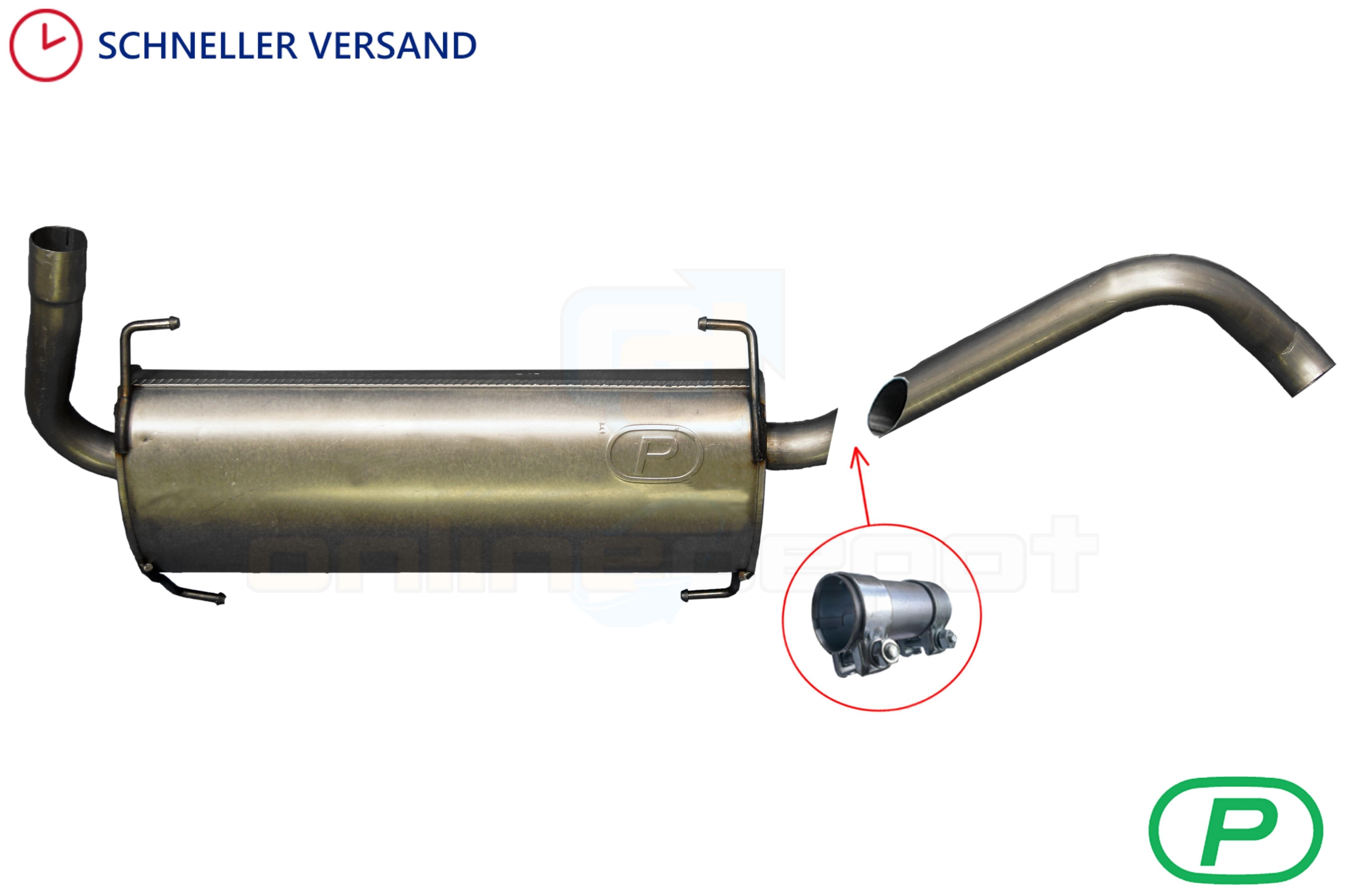 Endschalldämpfer Citroen Jumper III 2.2 HDi 2006-heute Endtopf Auspuff